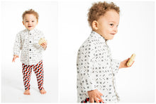 Load image into Gallery viewer, Toddler Shirt - Domino Button-down - 4T