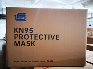 Case of 1000 KN95 Masks (Leephick Pharmaceutic) CE Approved /Limit 50 cases available at this price.