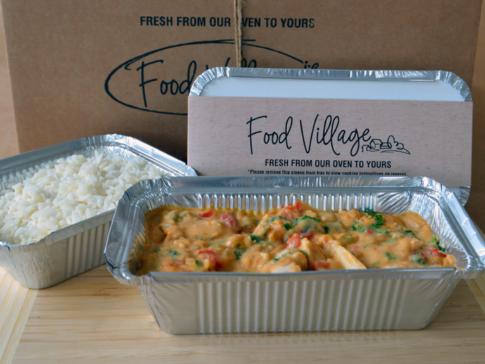 Red Thai Chicken Curry & Rice - Individual Portion - Food Village