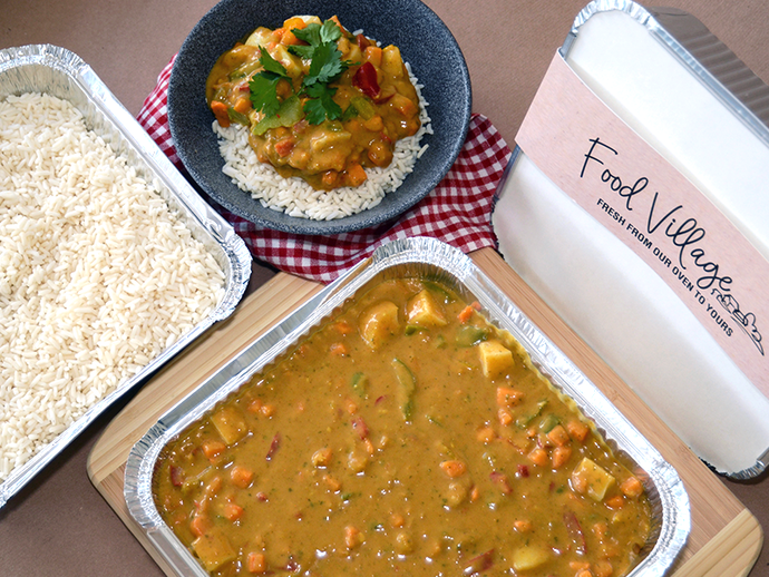 Sweet Potato & Chickpea Curry & Rice - Family Size - Food Village