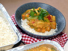 Load image into Gallery viewer, Wholesale Sweet Potato and Chickpea Curry & Rice - Food Village