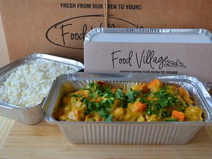 Sweet Potato & Chickpea Curry & Rice - Individual Portion - Food Village