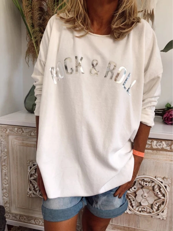 Women Casual Plus Size  Long Sleeve Tee Shirt