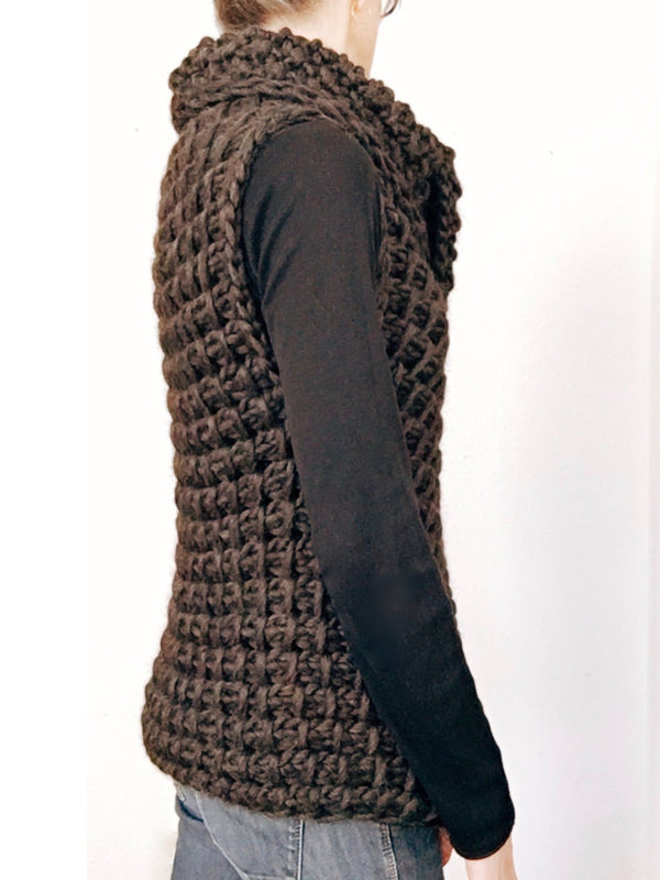 Cowl Neck Sleeveless Sweater