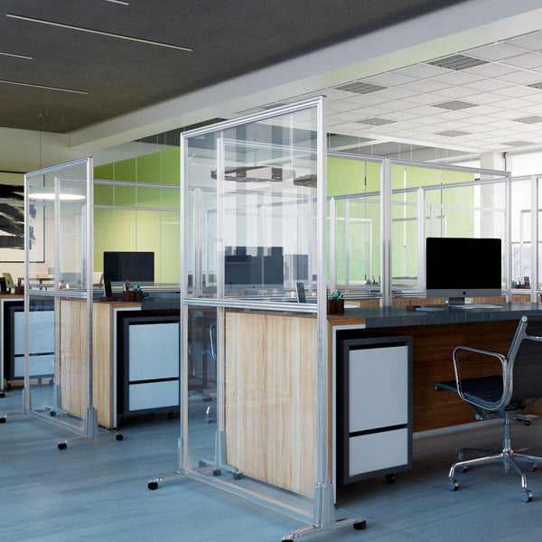 Obex Clear Acrylic Privacy Screens for Offices