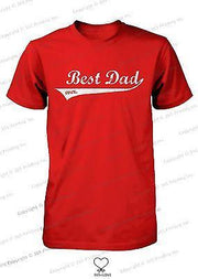 Best Dad Ever Swash Style T-Shirt - Father's Day