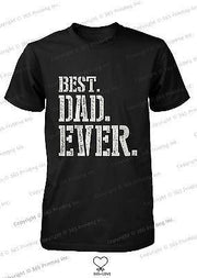 Best Dad Ever Stencil Style T-Shirt - Father's Day