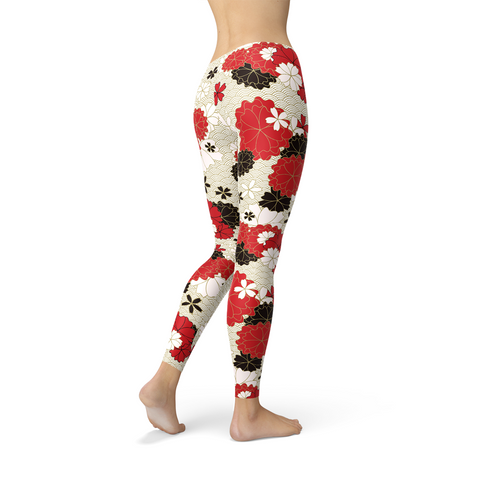 Womens Japanese Cherry Blossom Leggings
