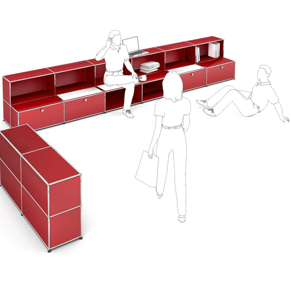 Haller System, Bench + Storage - Storage- USM-ONE 52 Furniture