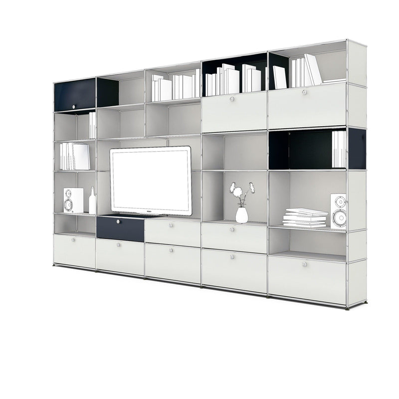 Meeting Room Bookcase - Storage- USM-ONE 52 Furniture