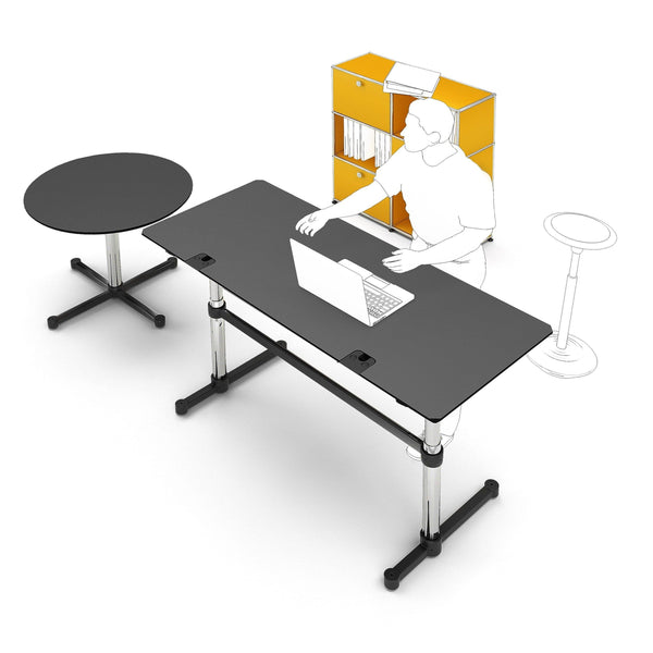 Kitos E - Sit to Stand Table - Storage- USM-ONE 52 Furniture
