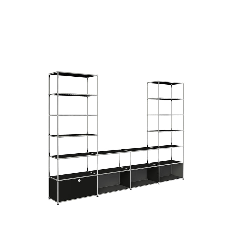 Haller System, Media Console and Two Towers - Storage- USM-ONE 52 Furniture