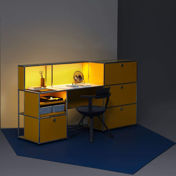 Haller E Shelving + Desk - Storage- USM-ONE 52 Furniture