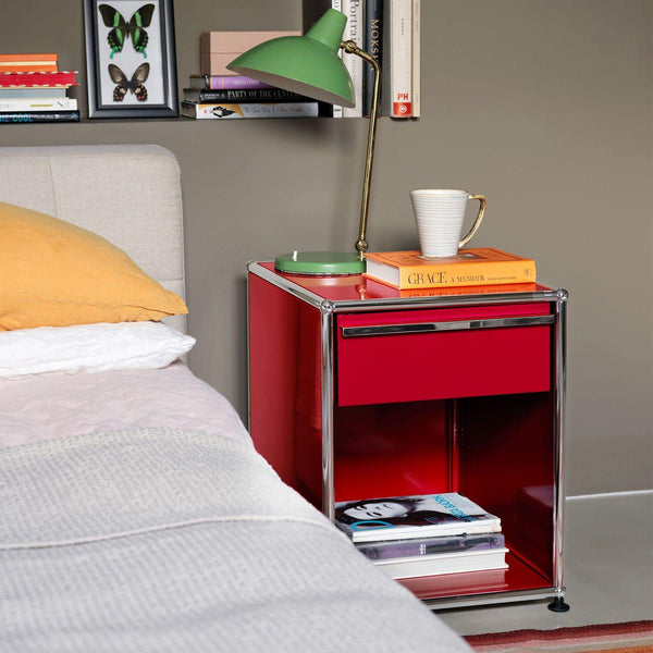 Haller System, Bedside Table + Drawer 51 - Tables- USM-ONE 52 Furniture