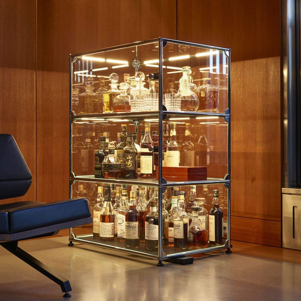 Haller E Glass Showcase - Storage- USM-ONE 52 Furniture