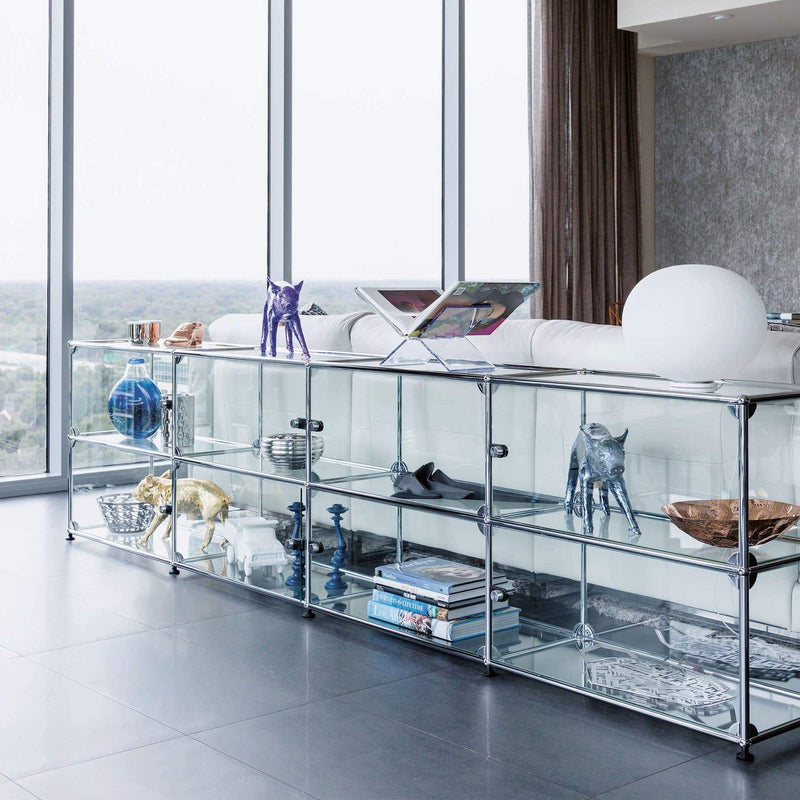 Haller System, Glass Display Cabinet (Low) - Storage- USM-ONE 52 Furniture