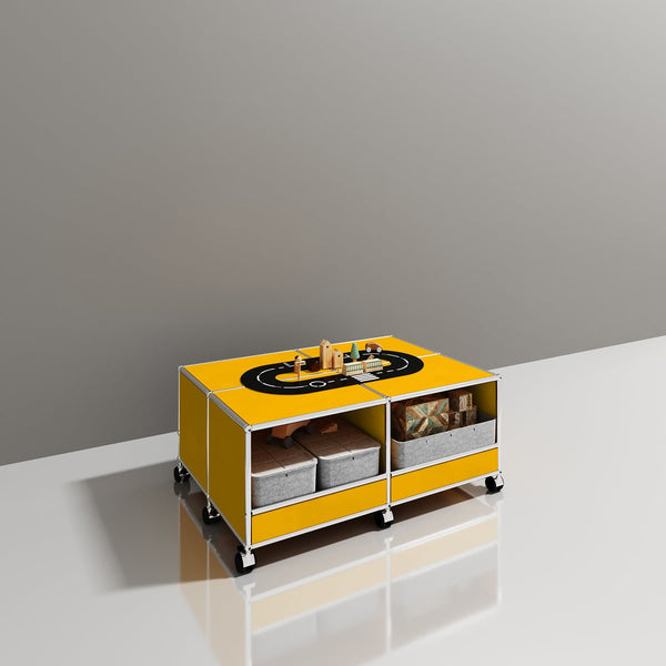Haller System, Mobile Coffee table - Storage- USM-ONE 52 Furniture