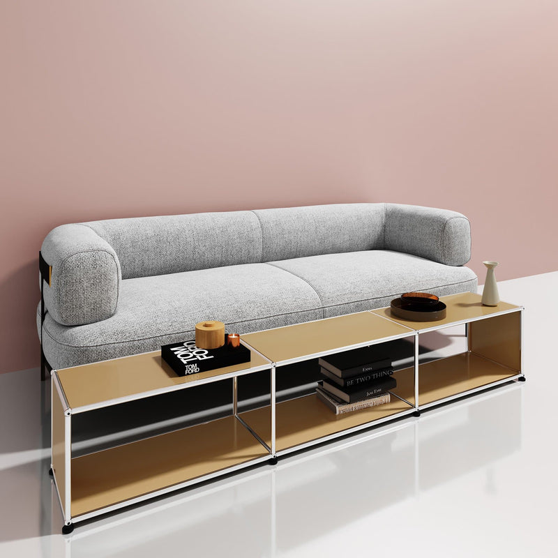 Haller System, Long Coffee Table + Compartments - Tables- USM-ONE 52 Furniture