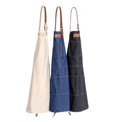 Baking Apron High Quality Leather Denim Aprons