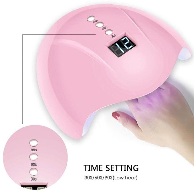 36W UV LED Intelligent Induction Nail Lamp Nail Dryer Gel