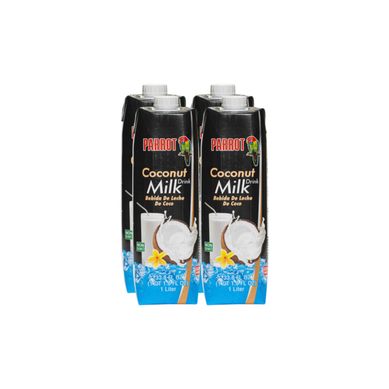 Parrot Coconut Water Box of 4 Shop Online Nongmo Milk Substitute Alternative Nondairy
