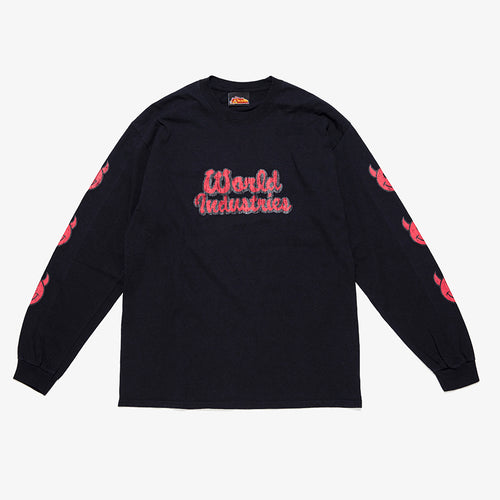 WORLD INDUTRIES LOGO LONG SLEEVE TEE