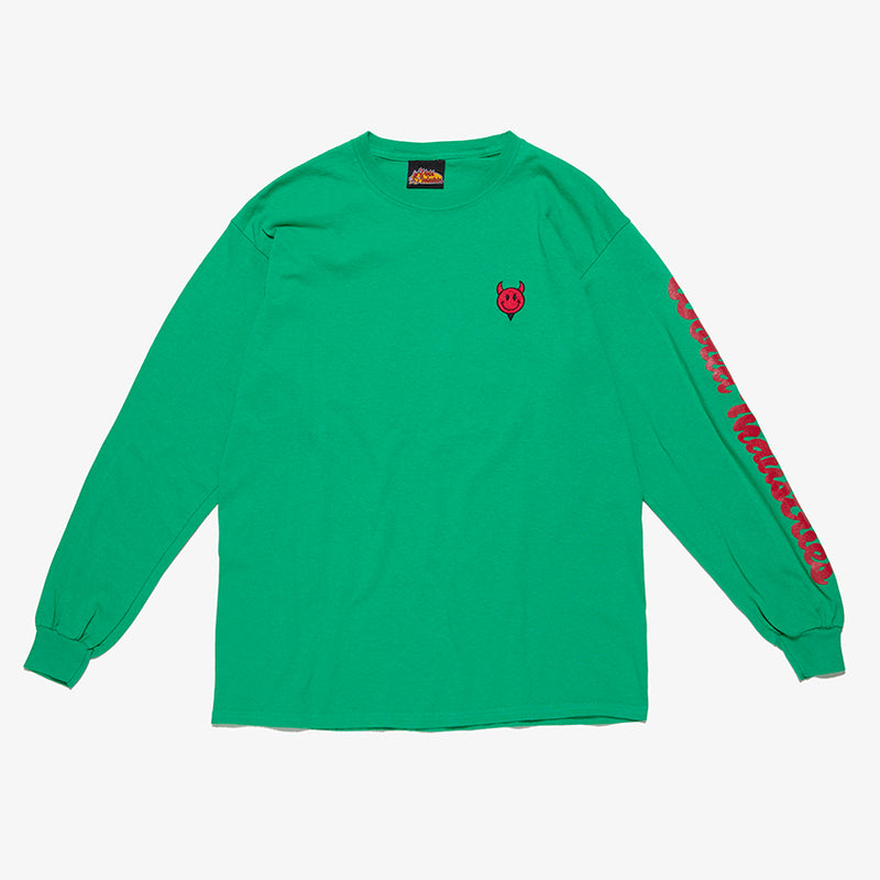 DEVILMAN EMBROIDERY LONG SLLEVE TEE