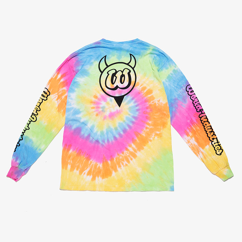 NEW DEVIL LOGO TIE-DYE LONG SLEEVE TEE