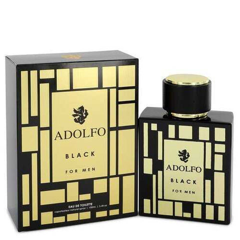 Adolfo Black by Adolfo Eau De Toilette Spray 3.4 oz (Men)
