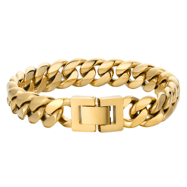 10mm Cuban Link Bracelet - Gold