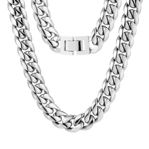 10mm Cuban Chain - Silver