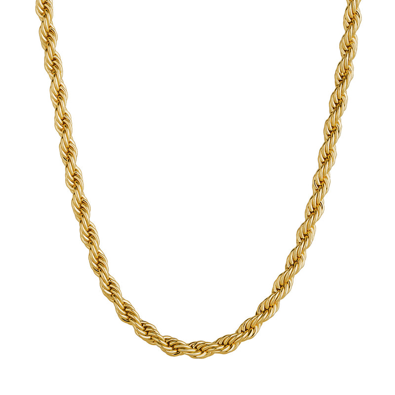 3mm Rope Chain - Gold