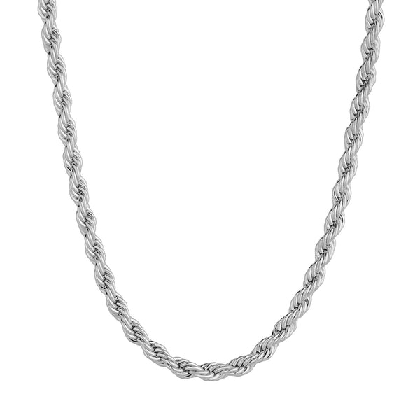 3mm Rope Chain - Silver