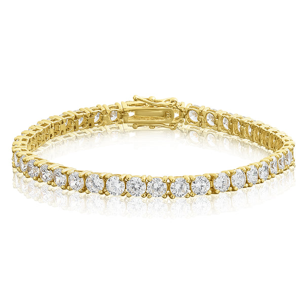 4mm Tennis Bracelet - Gold