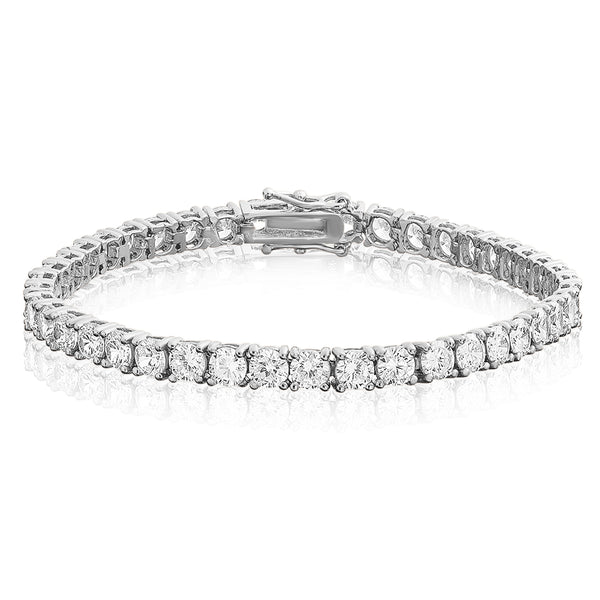 4mm Tennis Bracelet - White Gold