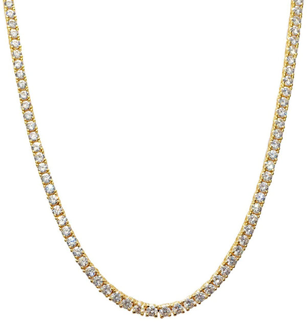 4mm Tennis Chain - Gold