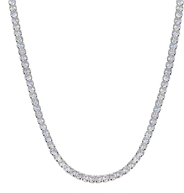 4mm Tennis Chain - White Gold