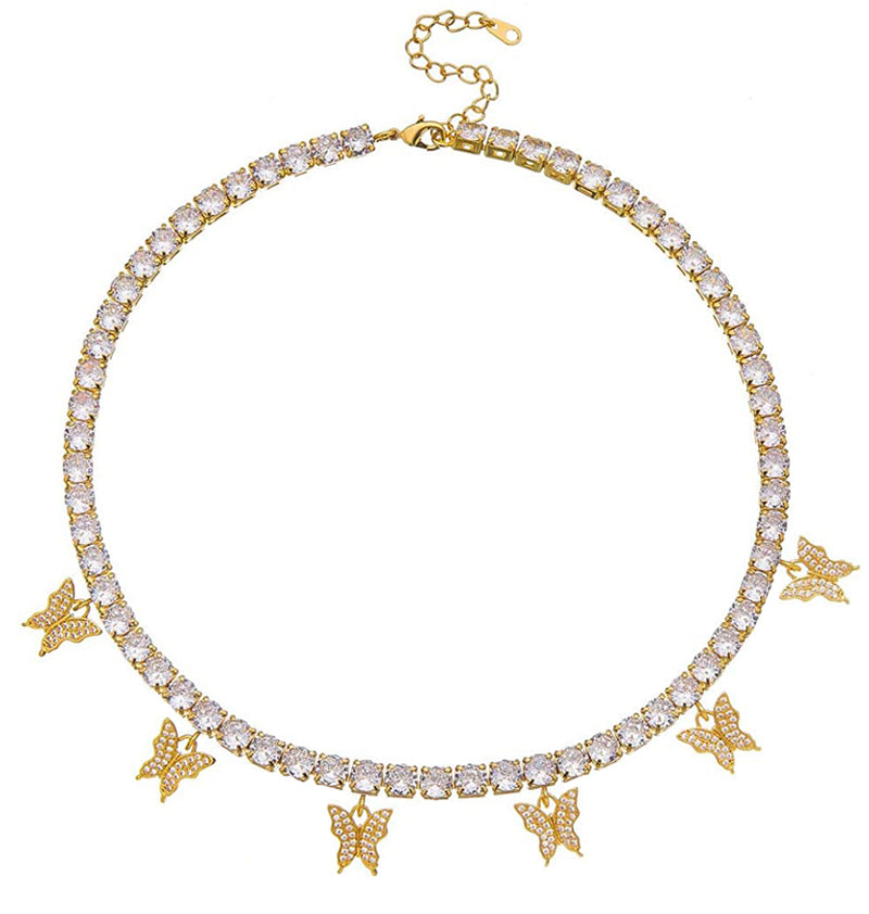 Butterfly Tennis Chain - Gold