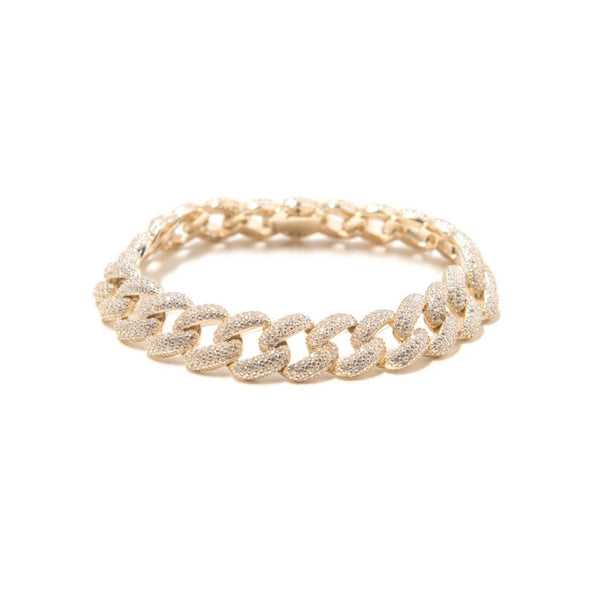 12mm Cuban Link Anklet - Gold