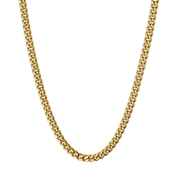 4mm Cuban Chain - Gold