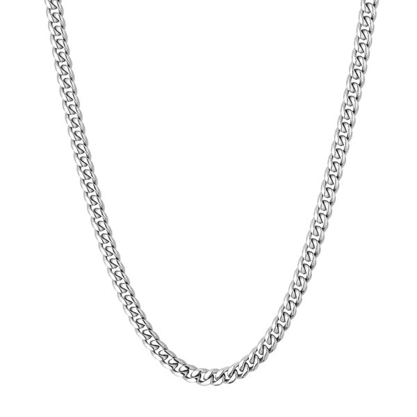 4mm Cuban Chain - Silver