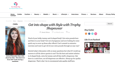 Blogger review: Get into shape with Style with Trophy Shapewear
