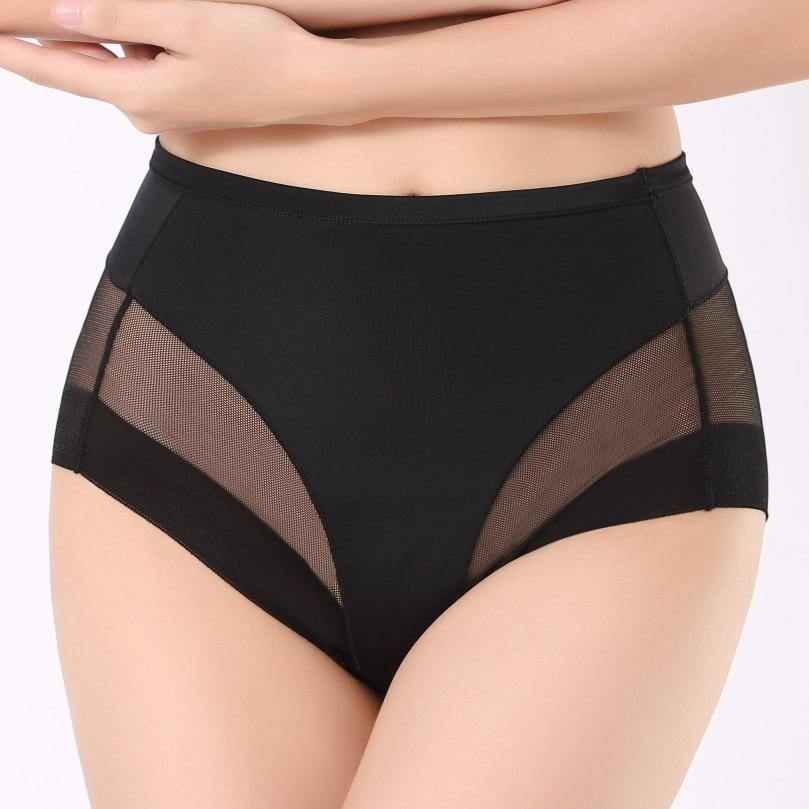 Karine | Seamless Breathable Mesh Body Shaping Panties-Lingerie-TrophyShapeWear.com
