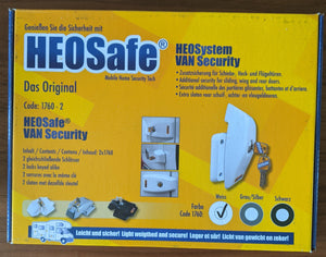HEOSafe® Swivel Security lock Set (2) for Vans & Military trucks