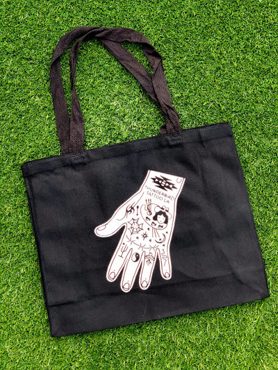 THUNDERBIRD TATTOO HAND TOTE BAG