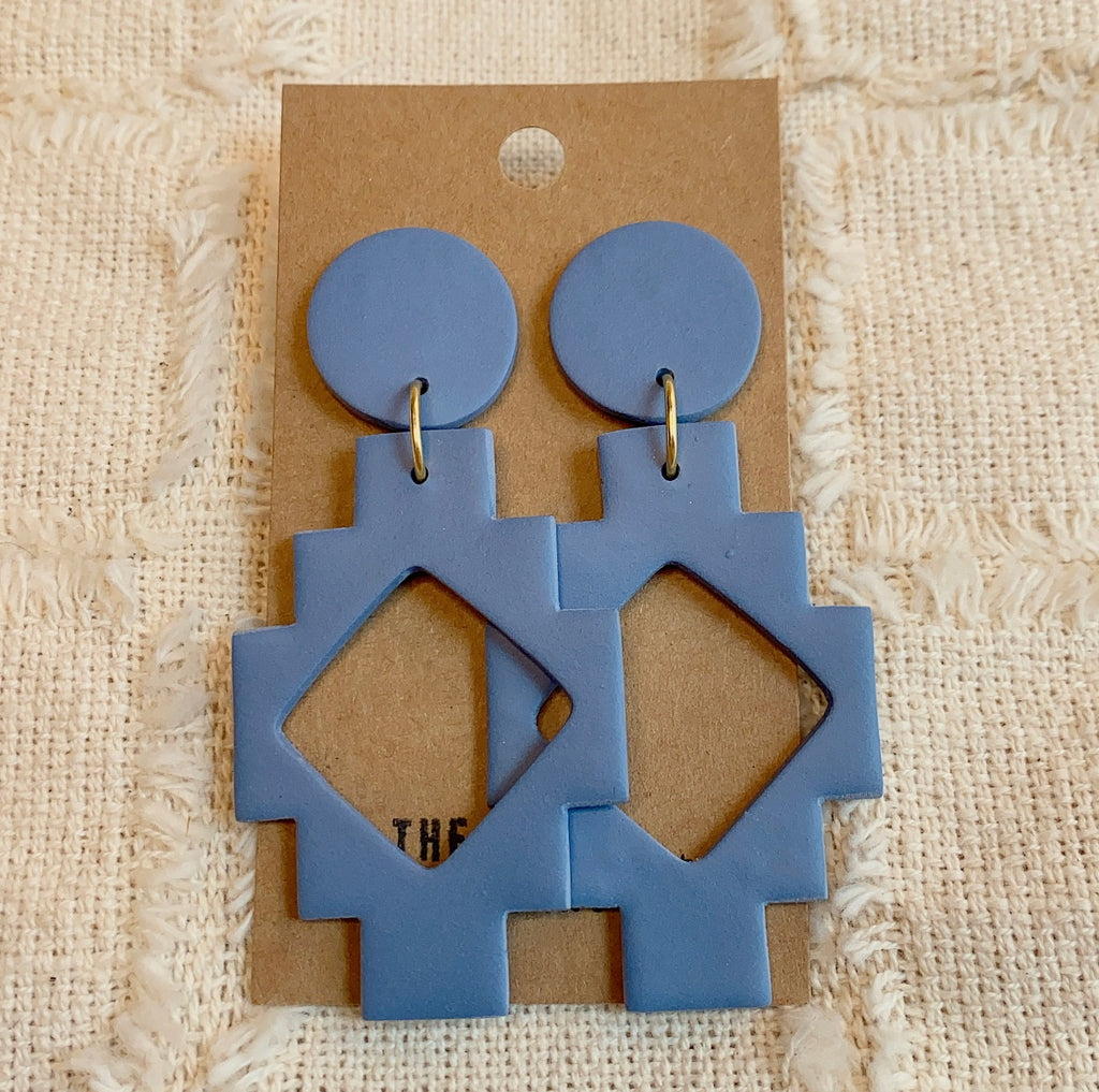 DENIM MAYA EARRINGS