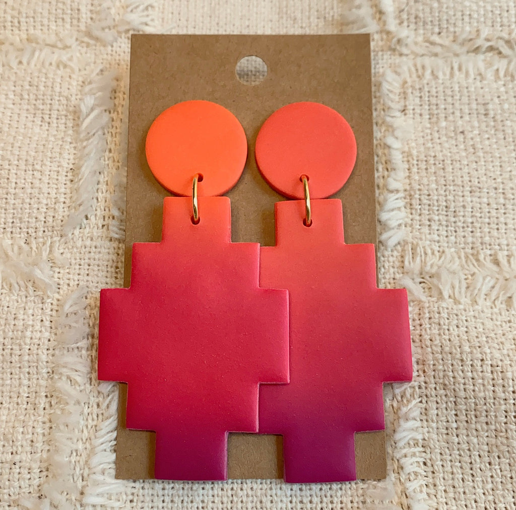 OMBRE SUNSET MILA EARRINGS GOLD