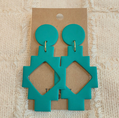 TEAL MAYA EARRINGS