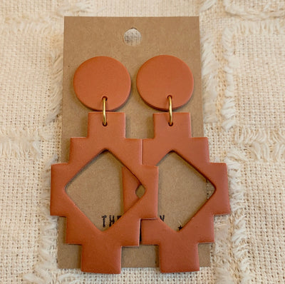 TERRACOTTA MAYA EARRINGS
