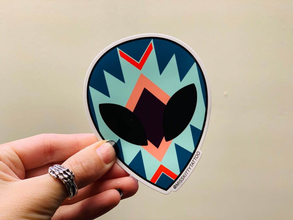 ALIEN STICKER BLUE